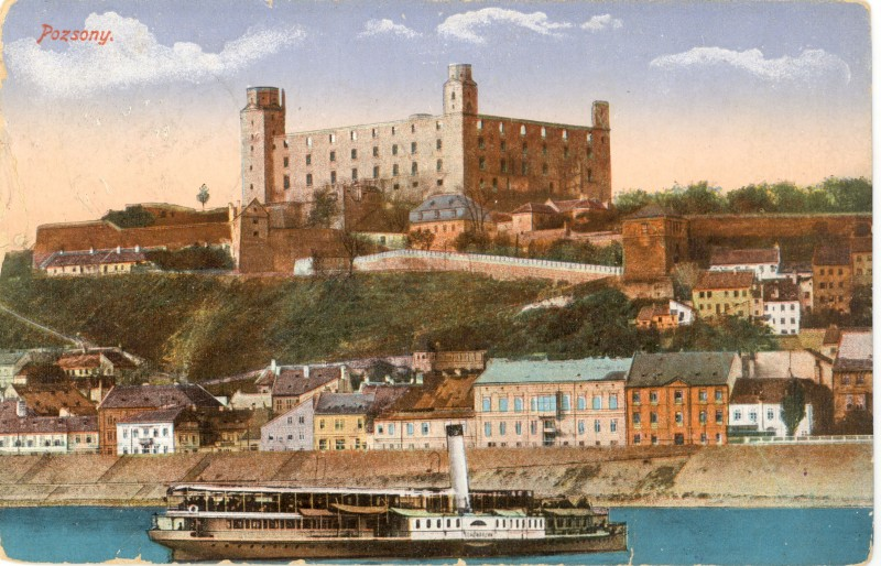 Old postcard Bratislava