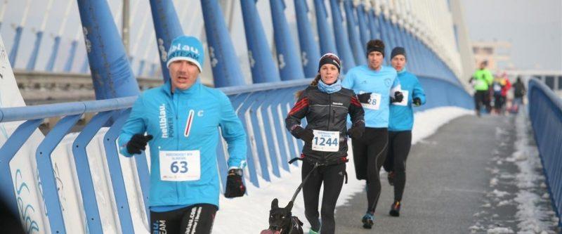 New Year Run Over The Bratislava Bridges