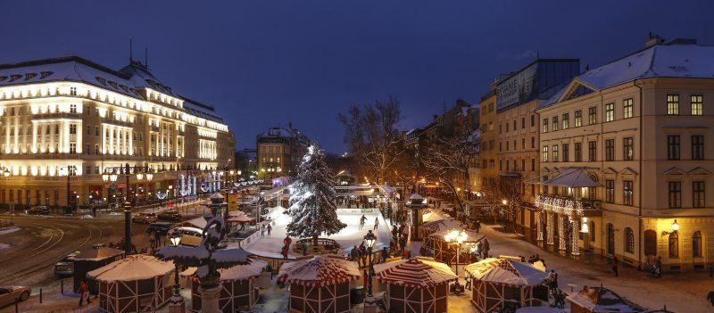 christmas market hviezdoslav square ice rink carlton