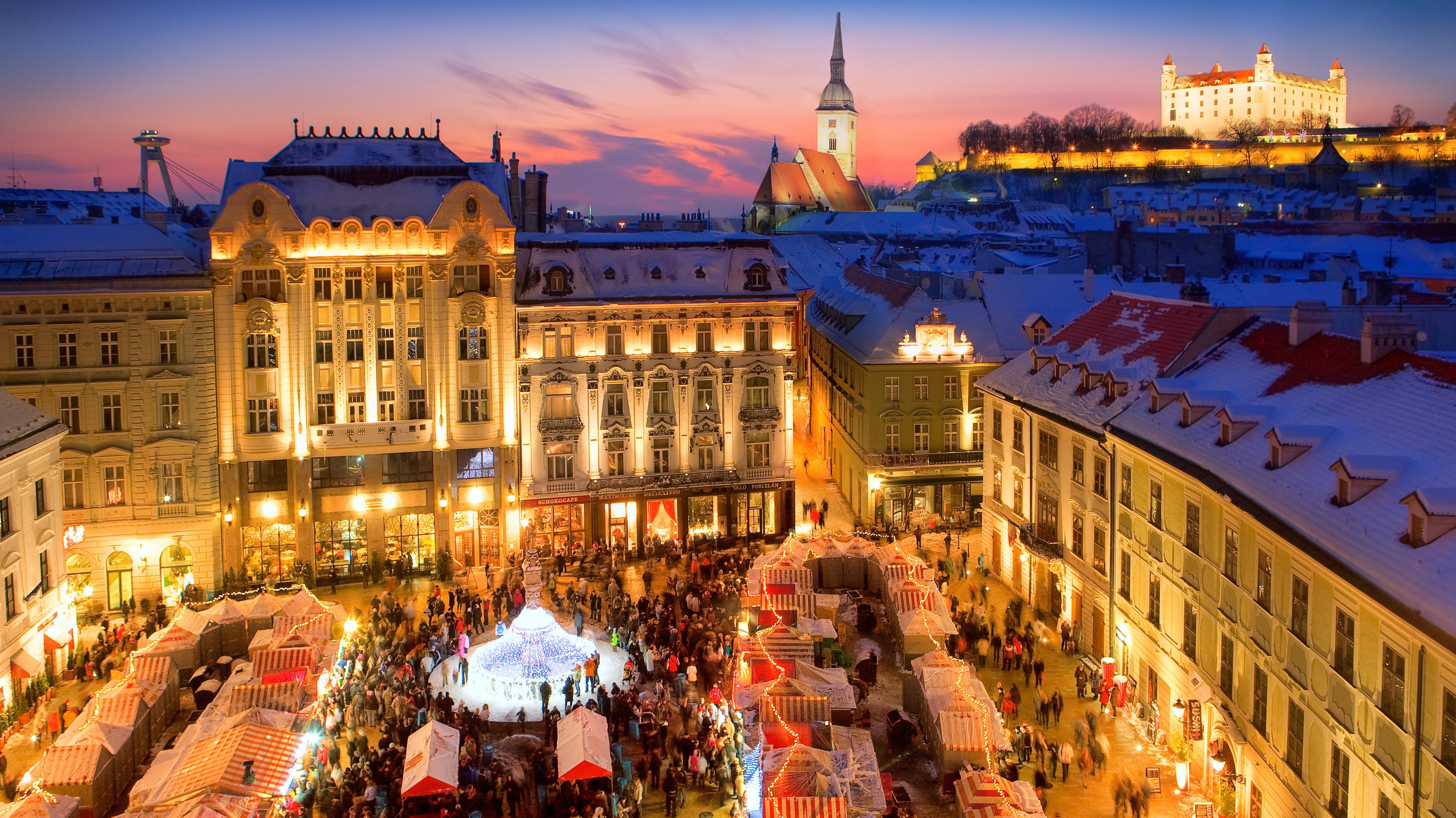frohe weihnachten in bratislava
