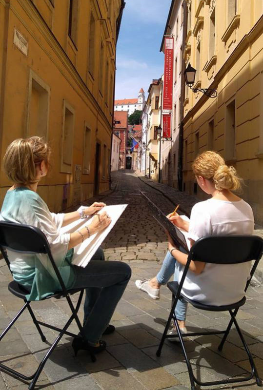 DRAWING IN THE OLD TOWN LANES