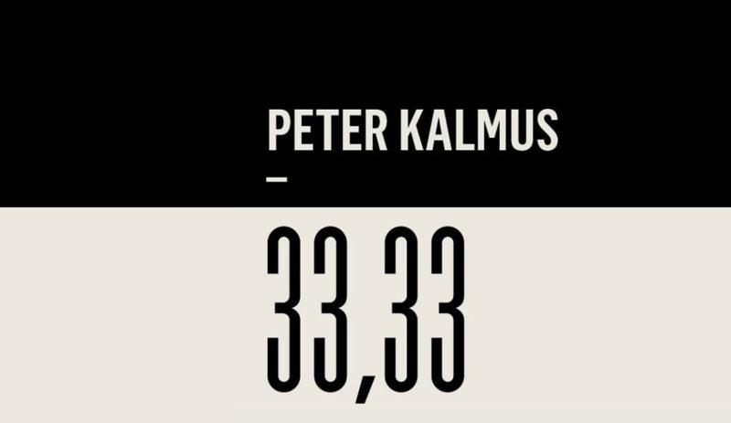 PETER KALMUS – 33,33
