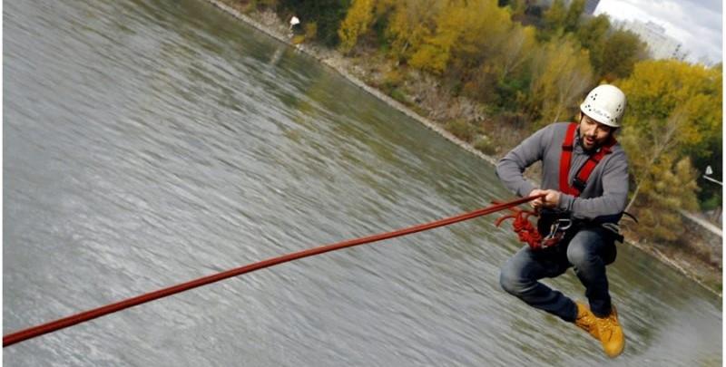 dunaj kyvadlovy zoskok most lafranconi
